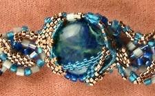 Sculptural Peyote Bracelet, Closeup