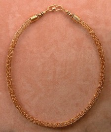 Copper Viking Knit Necklace