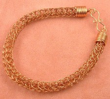 Example of a Viking Knit Bracelet, Single Knit